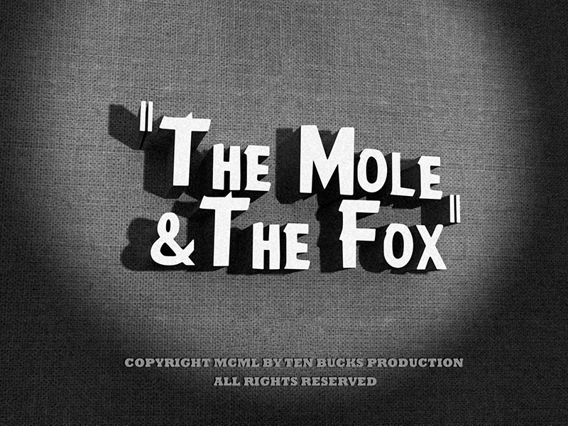 The Mole and the fox_Film noir-light